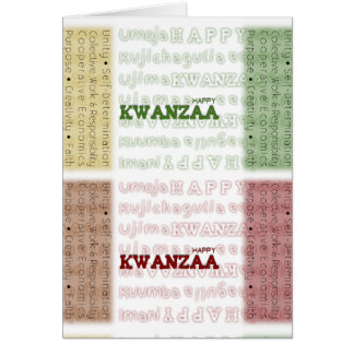 Modern Happy Kwanzaa Red Green Black Gold Greeting Card