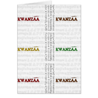 Modern Happy Kwanzaa red green black gold Cards