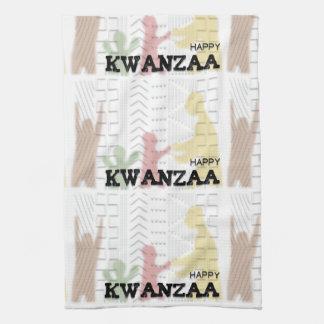 Modern Happy Kwanzaa Red Green Black Gold Hand Towel