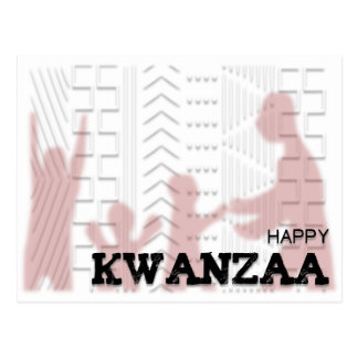 Modern Happy Kwanzaa Red Postcard