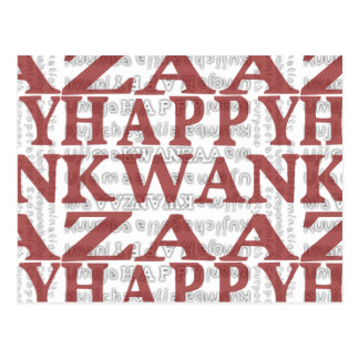 Modern Happy Kwanzaa Red Postcards