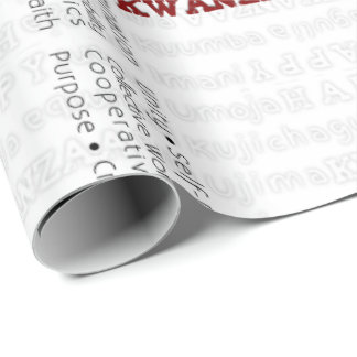 Modern Happy Kwanzaa Red Wrapping Paper