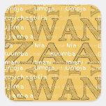 Modern Happy Kwanzaa Square Sticker