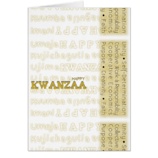 Modern Happy Kwanzaa Yellow Card