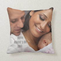 Modern Happy Mother's Day Photo Pillow