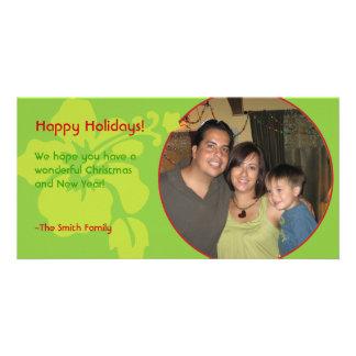 Modern Hawaiian Hibiscus Christmas Photo Card