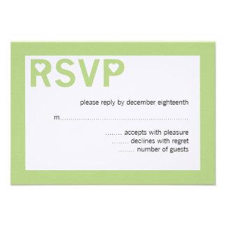 Modern Heart Ampersand Wedding RSVP Cards Custom Announcement