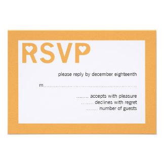 Modern Heart Ampersand Wedding RSVP Cards Announcement