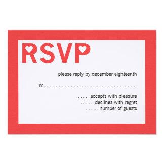 Modern Heart Ampersand Wedding RSVP Cards Custom Invite