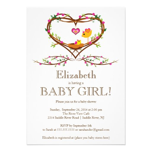 Bird Baby Shower Invitations can inspire you to create best invitation template