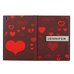 Modern Heart Elegant Orange Red Powis iPad Air 2 Case