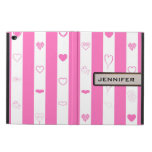 Modern Heart Elegant Pink Stripe Powis iPad Air 2 Case
