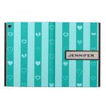 Modern Heart Elegant Turquoise Stripe Powis iPad Air 2 Case