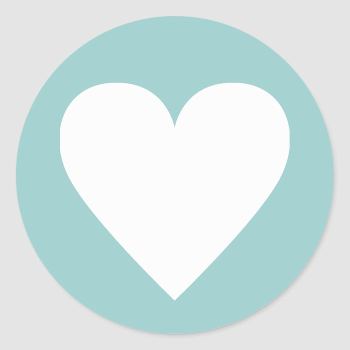 Modern Heart Label Sticker Template, 99CCCC