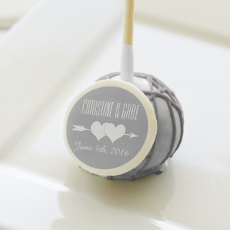 Modern Hearts Grey and White Wedding Favor