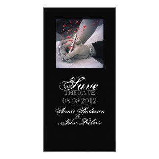 modern hearts Lovers Las Vegas Wedding Card