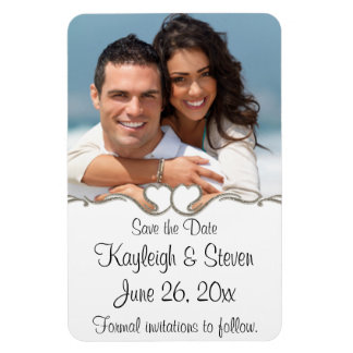 Modern Hearts Save the Date Magnet