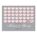 Modern Hearts Save the Date: Silver Post Cards