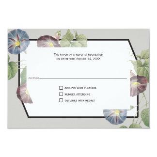 Modern Heirloom Morning Glory Reply Card