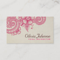 Modern Henna Design Business Cards