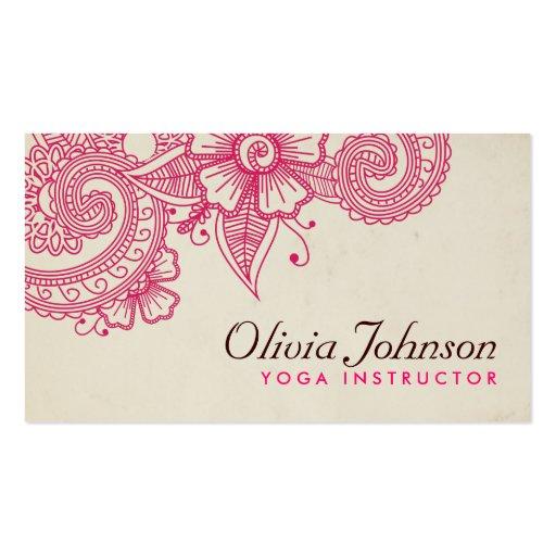 Modern Henna Design Business Cards