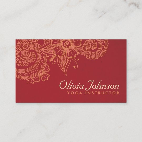 modern henna design business cards groupon - Zazzle Business Cards