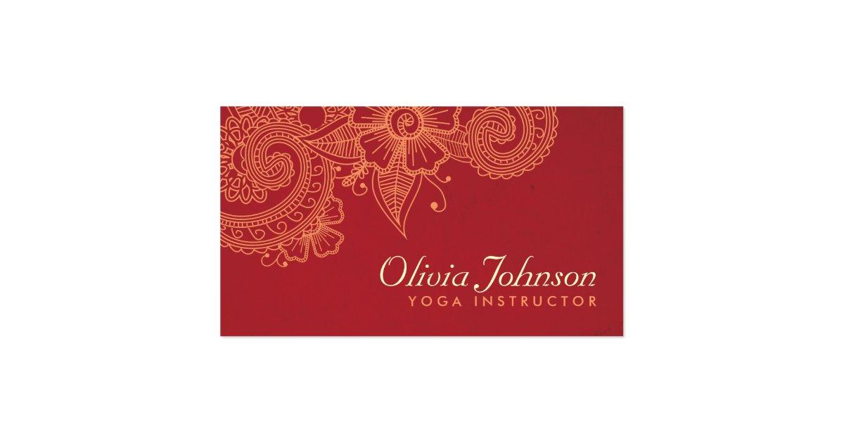 Modern Henna Design Business Cards Groupon
