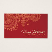 Modern Henna Design Business Cards - Groupon