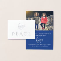 Modern Heritage Dove Foil Holiday Photo Foil Card