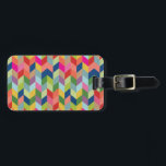 """Modern Herringbone Pattern Luggage Tag<br><div class=""""desc"""">This design features a modern herringbone pattern in a bold variety of colors including green,  blue,  red,  pink,  orange and purple.  To personalize with text,  click on the Customize It button.</div>"""