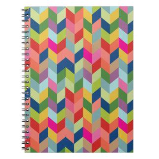 Modern Herringbone Pattern Notebooks