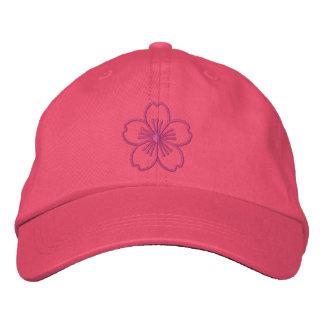 Modern Hibiscus Embroidered Baseball Cap