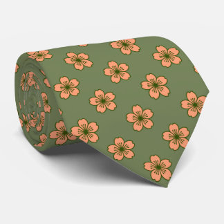 Modern Hibiscus Hawaiian Floral Two-Sided Printed Tie