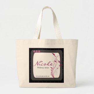 Modern High Style Black Grey Pink Large Tote Bag