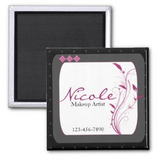 Modern High Style Black Grey Pink Magnet