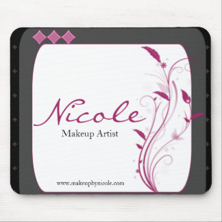 Modern High Style Black Grey Pink Mouse Pad