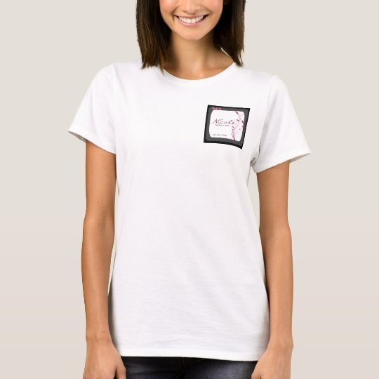 Modern High Style Black Grey Pink T-Shirt