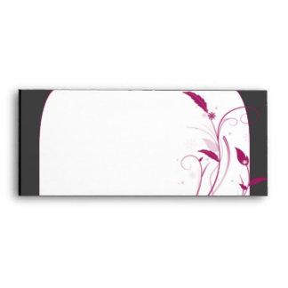Modern High Style in Black Grey Pink Envelope