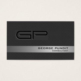 Modern High-Tech Look Monogrammed Professional Business Card