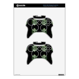 Modern Hip Black Green Pattern Xbox 360 Controller Skins