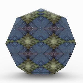 Modern Hip Blue Earth Green Diamond Pattern Acrylic Award