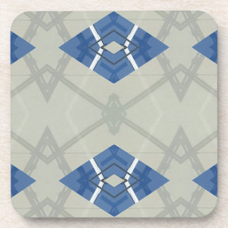 Modern Hip Blue Gray Geometrical Pattern Coaster