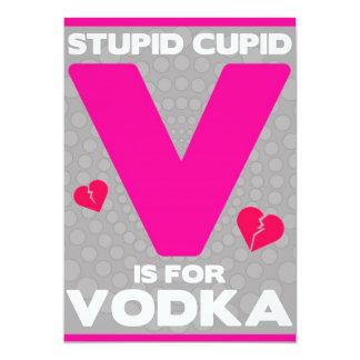 Modern Hipster Anti-Valentine's Day Party Invite
