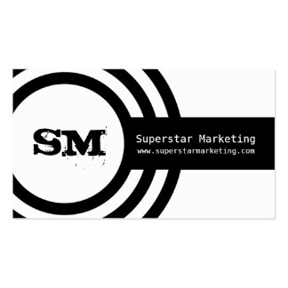 Modern Hipster Business Card, Black and White