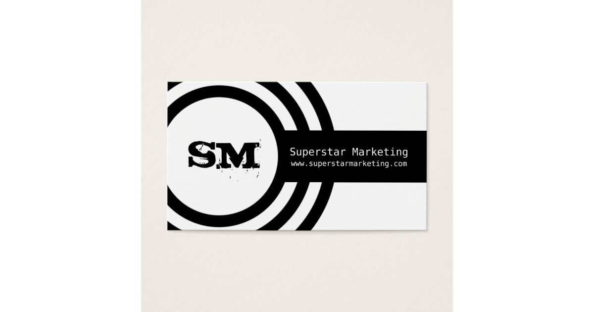 Modern hipster business card black and white business for Hipster business card