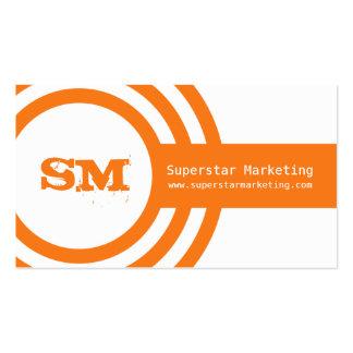 Modern Hipster Business Card, Orange