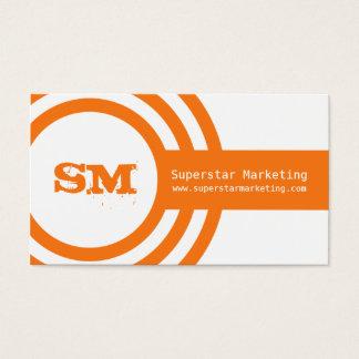 Modern Hipster Business Card, Orange Business Card
