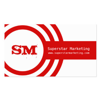 Modern Hipster Business Card, Red Double-Sided Standard Business Cards (Pack Of 100)