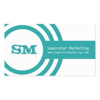 Modern Hipster Business Card, Turquoise Double-Sided Standard Business Cards (Pack Of 100)