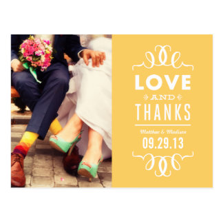 MODERN HIPSTER | WEDDING THANK YOU POST CARD